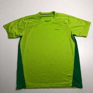 3/$30 Reebok Mens Green Yellow Play Dry T-shirt